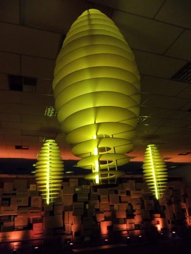 Luminaria na sala VIP.