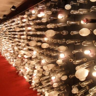 Detalhe do painel de lampadas