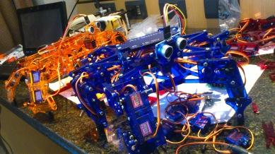 montando os robozinhos