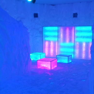 ambiente do gelo feito de isopor